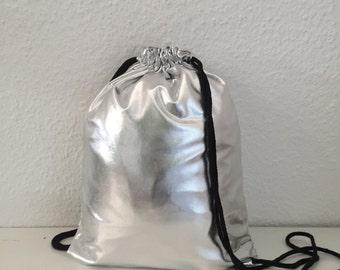 Silver bag new gym bag