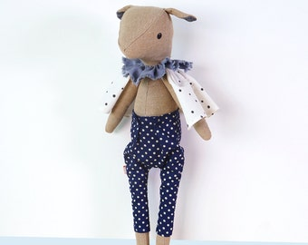 Fabric Doll  ''Harry''   Handmade stuffed creature