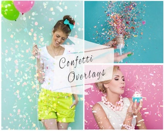 BOGOF, Confetti Photoshop Overlays, Confetti Overlays, Photoshop Overlays, Photo Overlays, Digital Backdrop, Wedding Confetti, Photo Effect