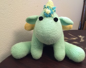 Personalized Dragon/Dinosaur with rattles inside