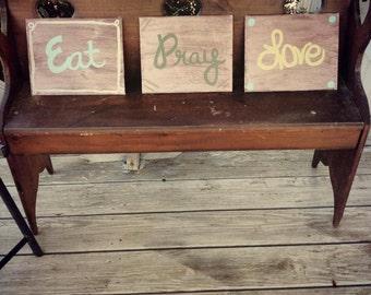 Eat, Pray, Love canvas