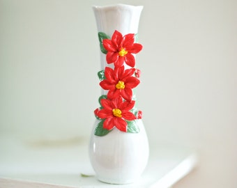 Poinsettia Stem Vase