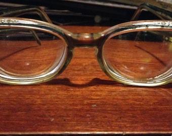 1950's Swank Frame France Prescription Cat Eyeglasses
