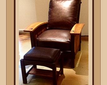 Bow Arm Morris Chair -- Wenge/Zebra woods