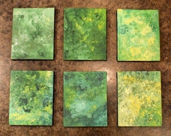 Green Series, canvases #1 - #6