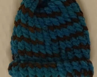 Blue and Brown knitted hat!