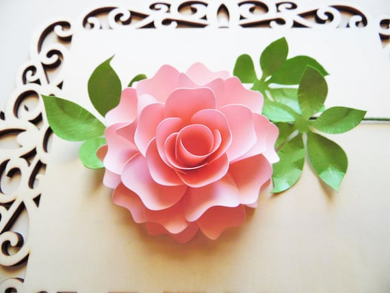 Hilaire image for paper rose template printable
