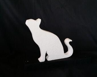Cat Silhoutte Foam Art