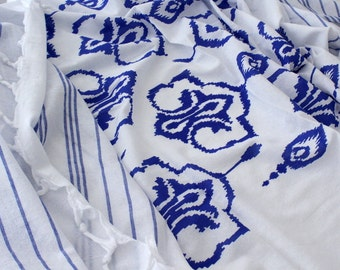SALE Beach Wrap Bikini Coverup Sarong Pareo Fouta Spa Sauna Gym Yoga Towel Sheet Ikat Pool Wrap Shawl Organic Cotton Summer2016