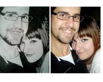 Custom Couple Portrait - Digital Image