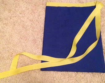 Primary Blue and Yellow Half Apron