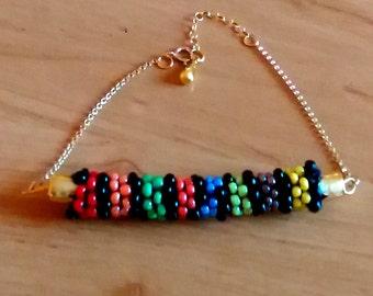 Ethnic bracelet, bracelet women, bracelet gold filled