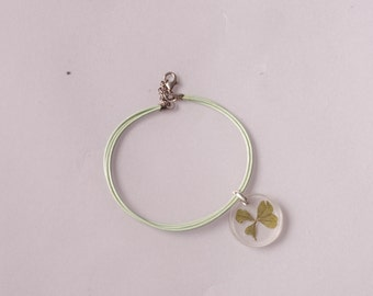 "Four Leaf Clover Bracelet ""Helenka"". Silver"