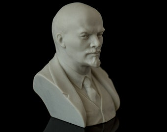 Marble Lenin Bust Scupture Russian Art Soviet Union Souvenir Vadimir Lenin Statuette For Home Desk Decor Lenin Statue USSR