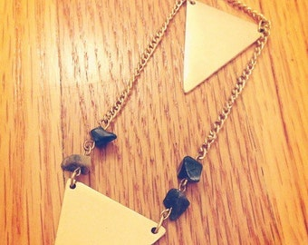 delicate gold geometric necklace