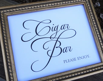 Wedding Sign, CIGAR BAR SIGN, Wedding Signs, Reception Decor, Wedding Signage, Wedding Decorations, Wedding Decor