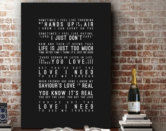 Florence & The Machine You've Got The Love Inspired Lyrics Love Song Wall Art Home Decor Anniversary Wedding Gift Typography Lyric PRINT