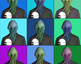 Dr. Who Ood pop-art print