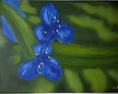 Dark blue (modern oil painting)