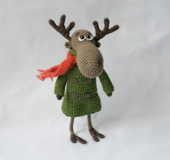 Amigurumi Moose : Handmade toy Moose Crochet Moose Amigurumi Moose Crochet