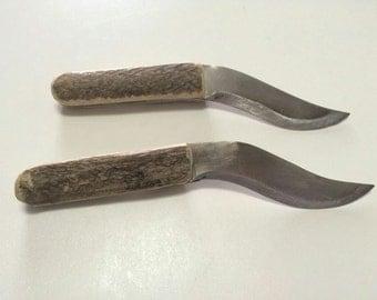 Roman knife sharpening with handles of Horn - Roman sharp knife horn hanle