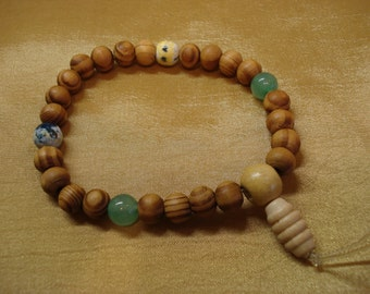 Wrist Mala/Bracelet for Meditation with Aventurine and Agate