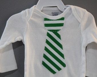 Baby Boy Tie Onesie Appliquéd Bodysuit
