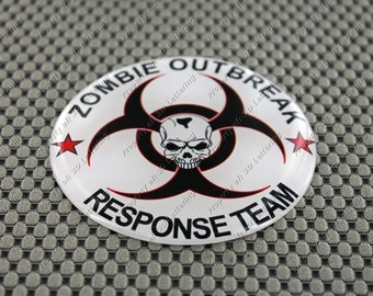 ZOMBIE OUTBREAK Response Team Domed 3D Decal Sticker 3""