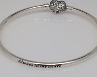Pandora Always in My Heart CZ Limited Edition Bangle Bracelet