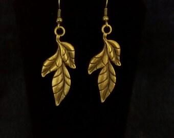 Three Leaf Earring Pair