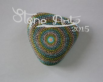 "Mandala Pebble ""Dots all over"" Dotpainting gift decoration home garden meditation"