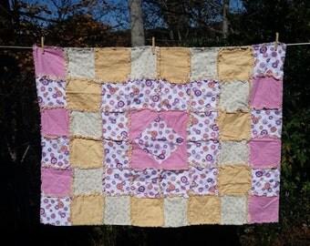 Girl's Crib Rag Quilt