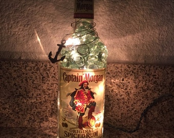 Lighted Captain Morgan Bottle
