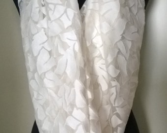 Wide Silk and Cotton scarf