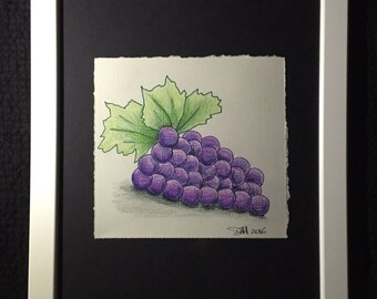 Mini Drawing #11 - Grapes