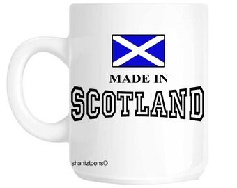 Made Born In Scotland Birthday Gift Mug shan684