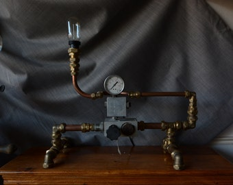 Steampunk Console Lamp