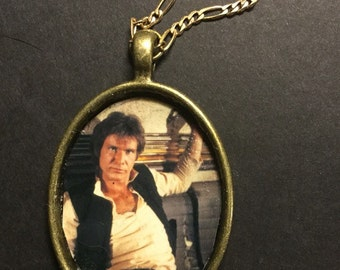 Han Solo Harrison Ford Metal Pendant Necklace