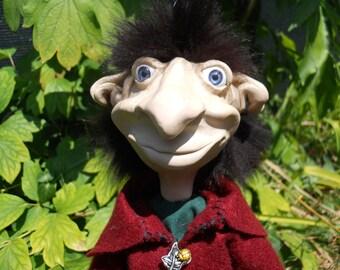FROD, elf, pixie, trolls, duendes, handmade, ooak, Elf, Goblin, luck, doll