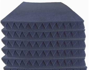 "12 Pack-Acoustic Panels Studio Soundproofing Foam Wedges 1"" x 12"" x 12"""