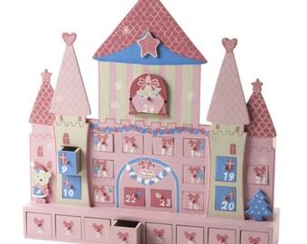 Wooden Princess Castle Christmas Advent Calendar