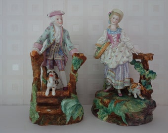 Pair Vion & Baury Antique French figurines free shipping