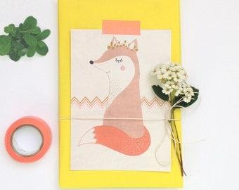 postcard - renard - spring