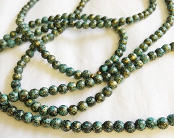 Lynn - Lightweight Aged Turquoise Wrap Necklace