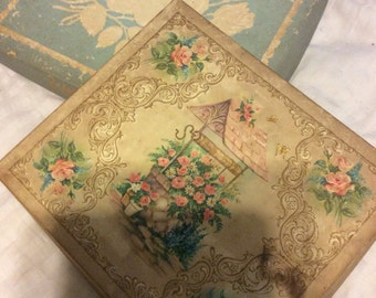 Vintage card boxes- both for one price