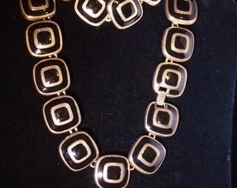 Vintage 90's Chunky designed necklace, bracelet and earring set