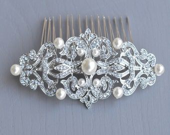 Vintage Wedding Comb,  Vintage Hair Comb