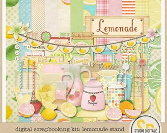 Summer Digital Scrapbooking Kit: Lemonade Stand