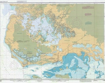 1998 Map of Everglades National Park Florida