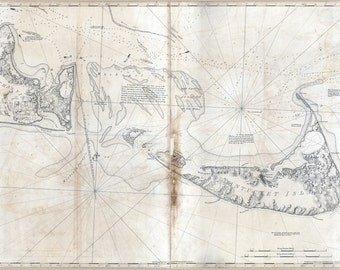 1776 Map of Nantucket Island and Martha's Vineyard